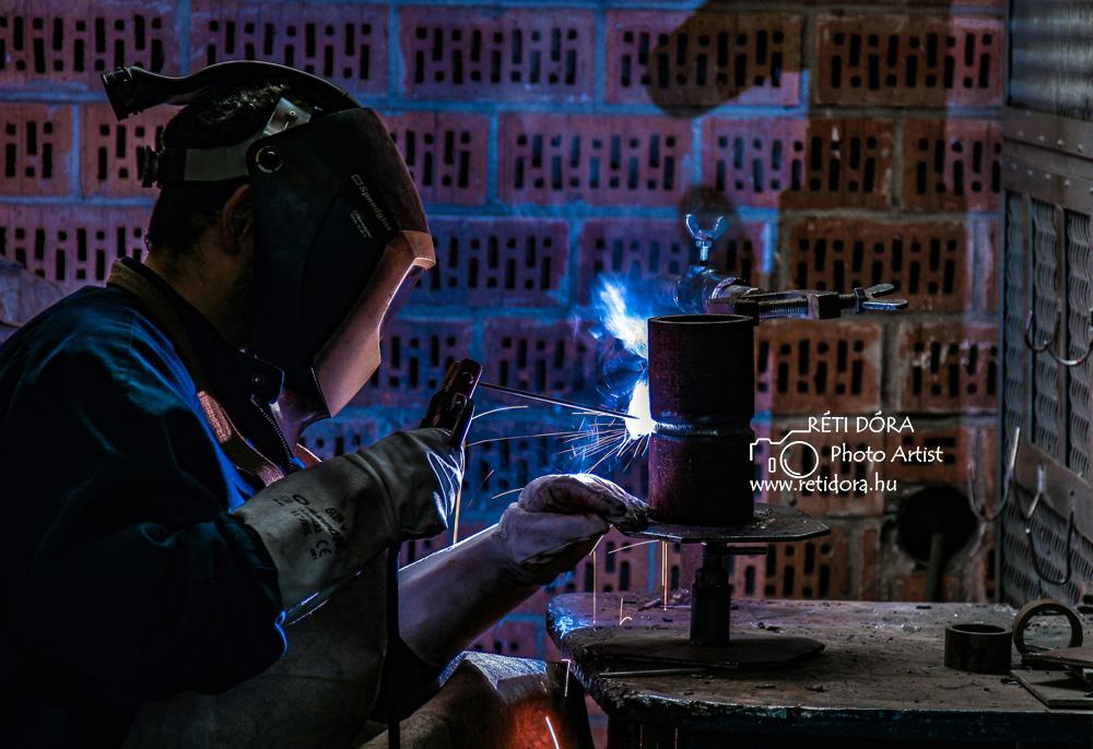 Hegesztés - ipari fotózás - Réti Dóra