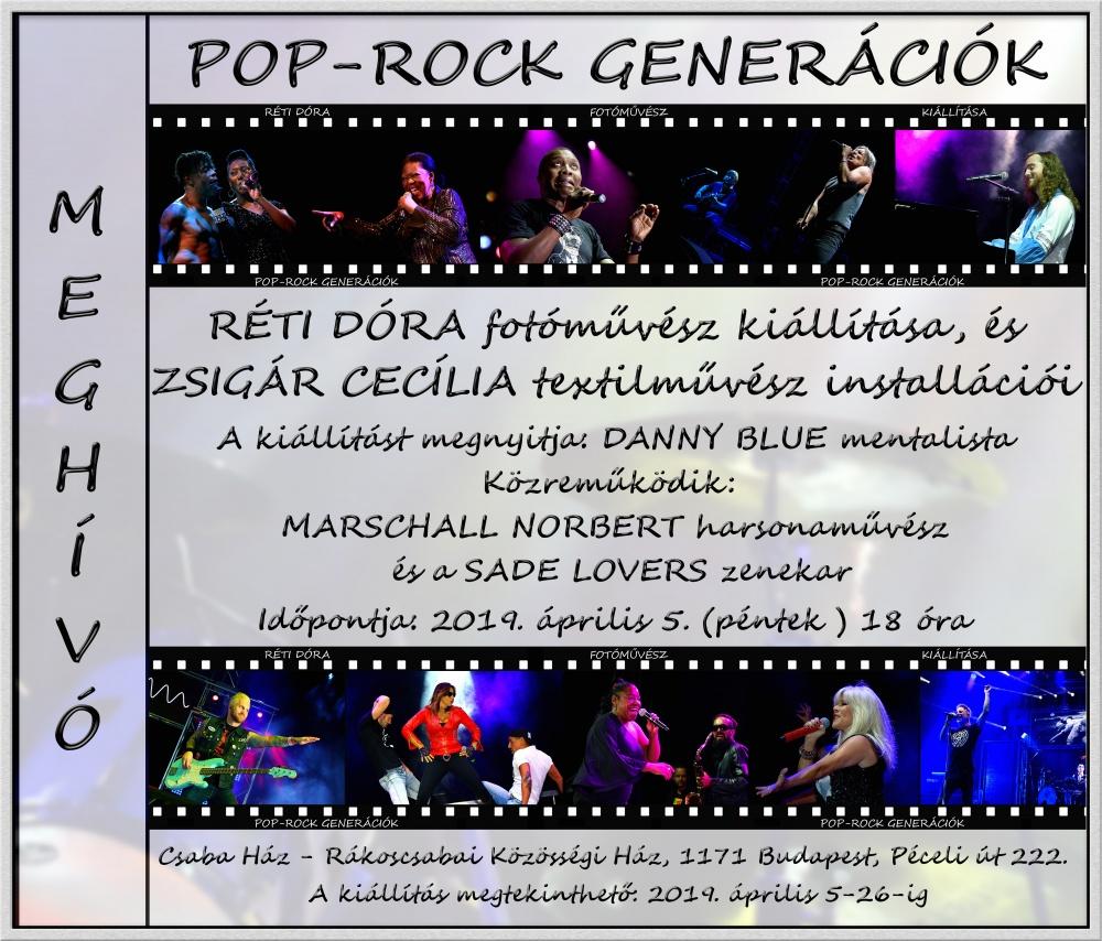 Pop-Rock Generációk - Réti Dóra fotóművész kiállításmeghívó